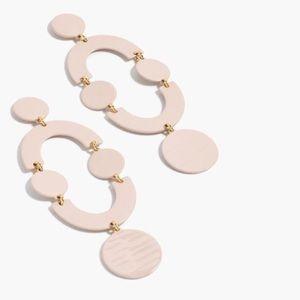 j crew | circlet earrings in blush